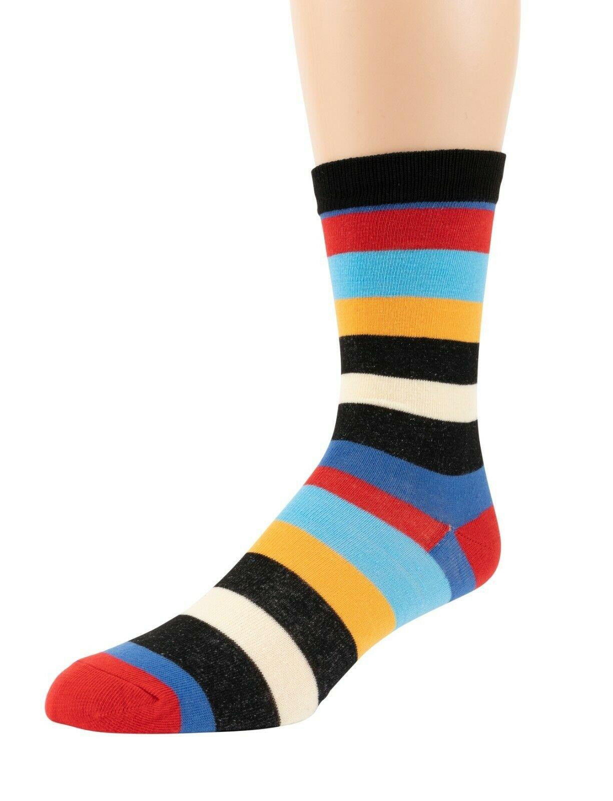 Mitch-Bogen-Mens-Cotton-Dress-Socks-Colorful-Fashion-Crew-Socks-8-Pack-Gift-Box thumbnail 60