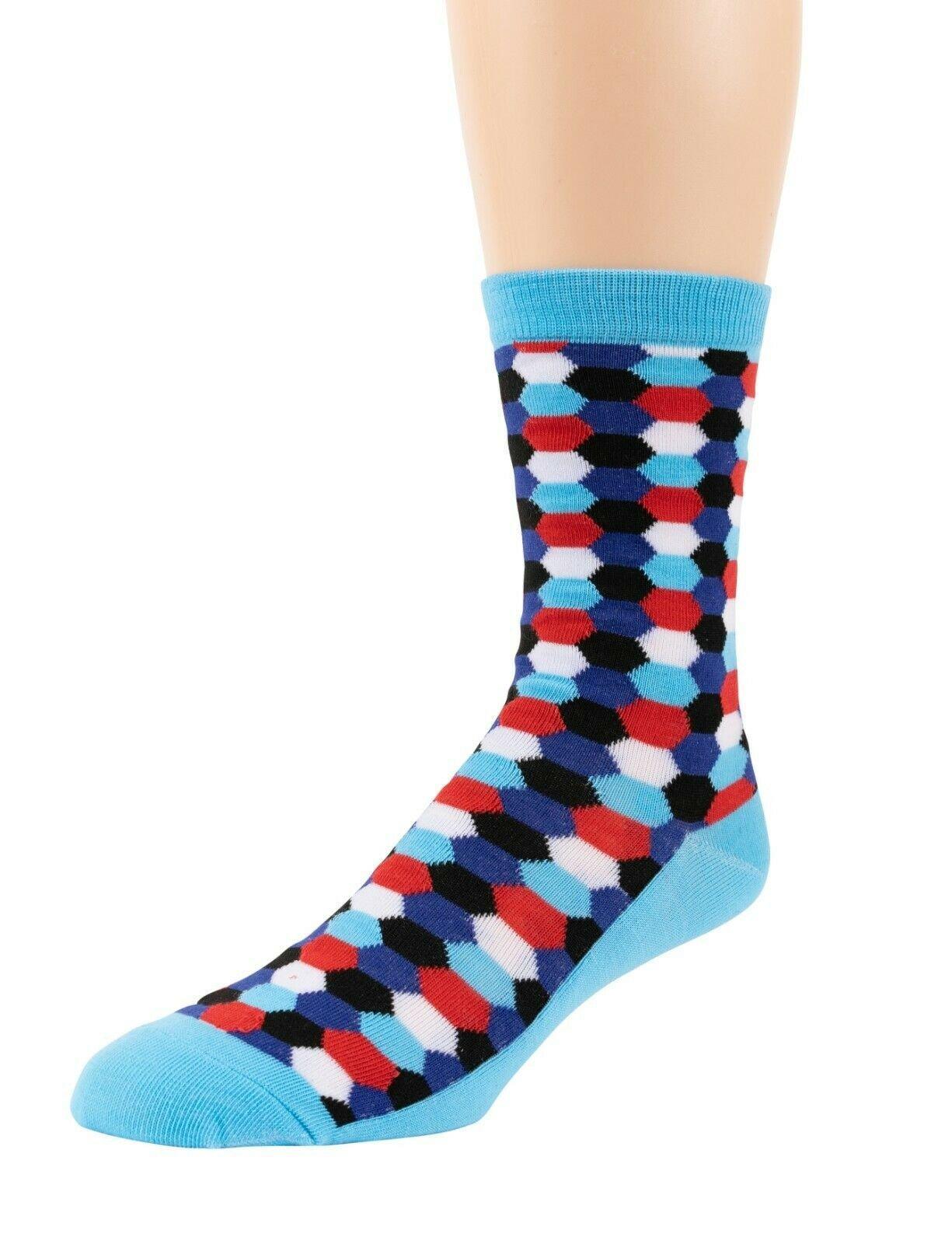 Mitch-Bogen-Mens-Cotton-Dress-Socks-Colorful-Fashion-Crew-Socks-8-Pack-Gift-Box thumbnail 66