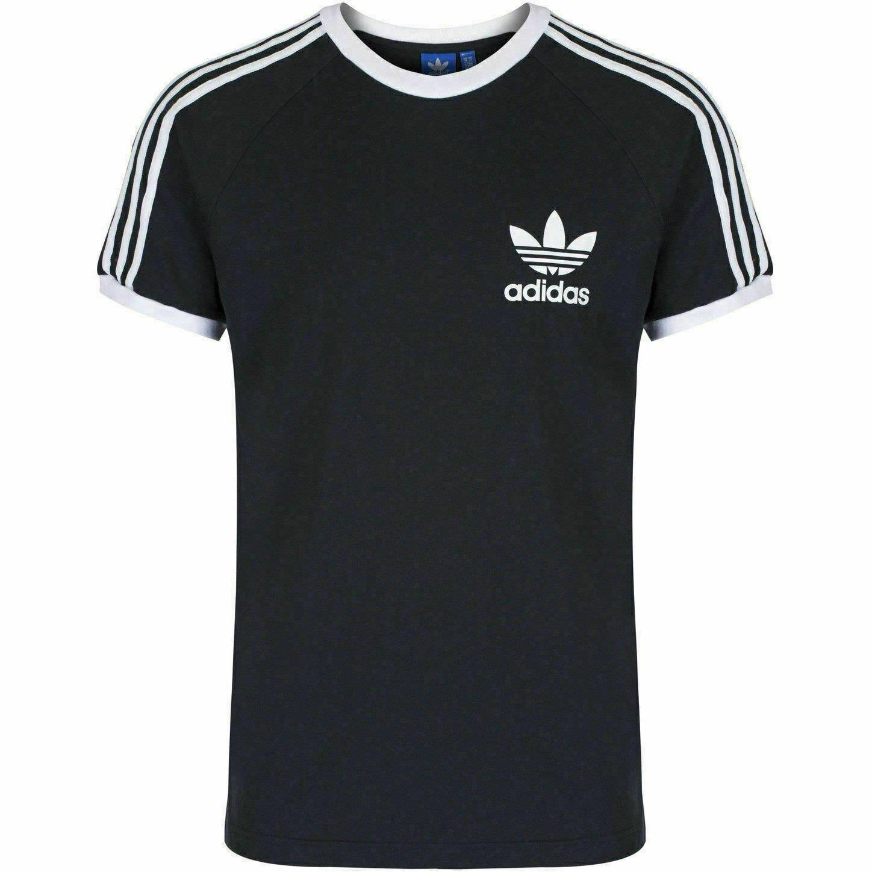thumbnail 7 - Adidas Originals California Men's T-Shirt Trefoil Retro 3-Stripes Short Sleeve