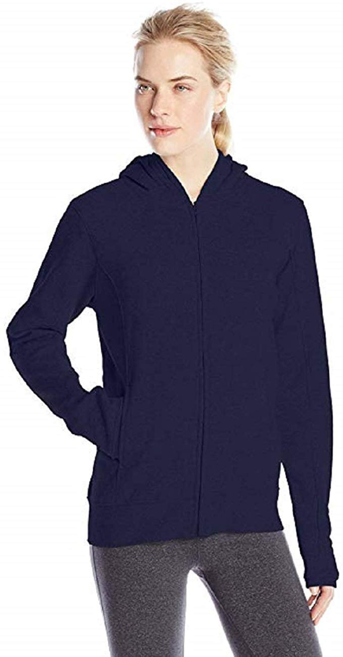 Soffe-Womens-Hoodie-Fleece-Zip-Up-Hooded-Sweatshirt-with-Pockets-Premium-Quality thumbnail 8