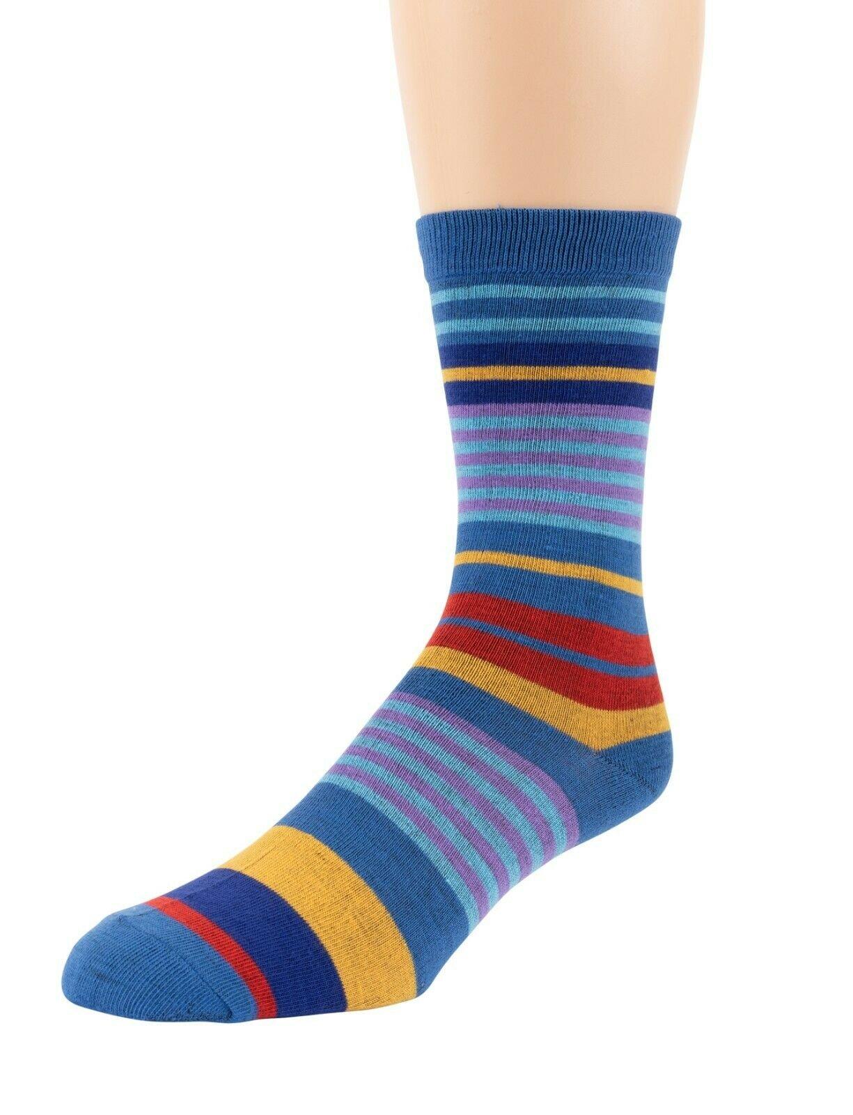 Mitch-Bogen-Mens-Cotton-Dress-Socks-Colorful-Fashion-Crew-Socks-8-Pack-Gift-Box thumbnail 14