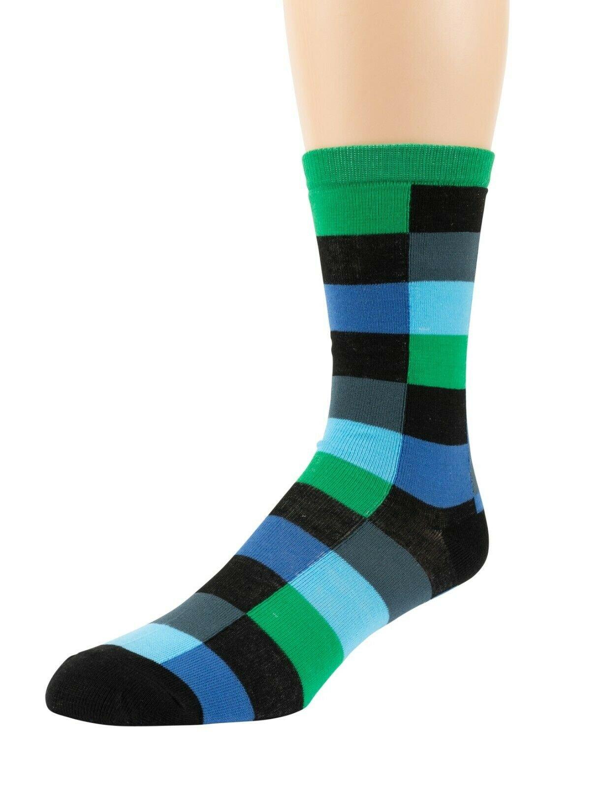 Mitch-Bogen-Mens-Cotton-Dress-Socks-Colorful-Fashion-Crew-Socks-8-Pack-Gift-Box thumbnail 25