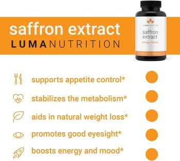 Pure Saffron Extract Appetite Suppressant Pills Mood Enhancement