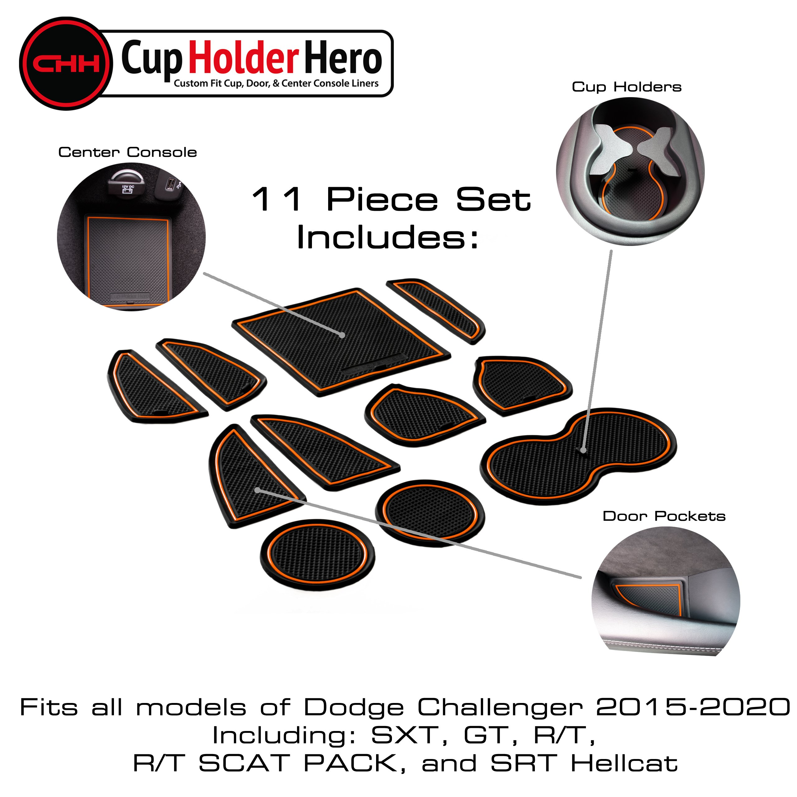 CupHolderHero-Dodge-Challenger-2015-2021-Liners-Accessories thumbnail 17