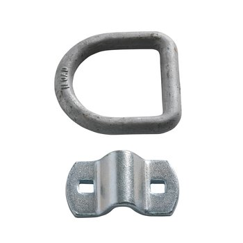 Four 1 2 Quot D Ring Heavy Duty Silver D Ring Cargo Tie Down