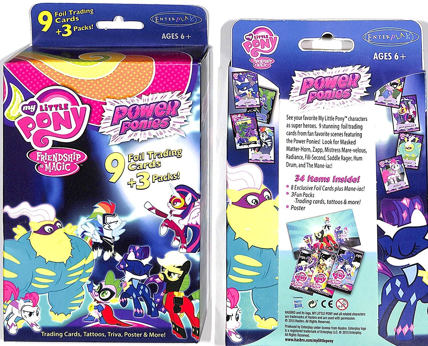 my little pony power ponies with 9 foils 3 packs poster more