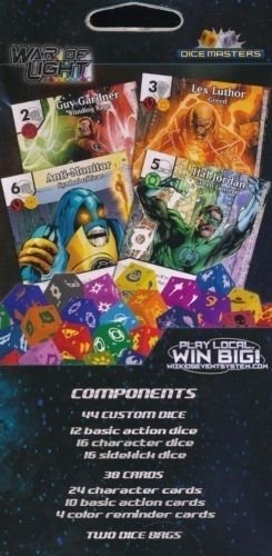 WIZKIDS DICE MASTERS DC WAR OF LIGHT 2 PLAYER STARTER SET /& 24 PACKS