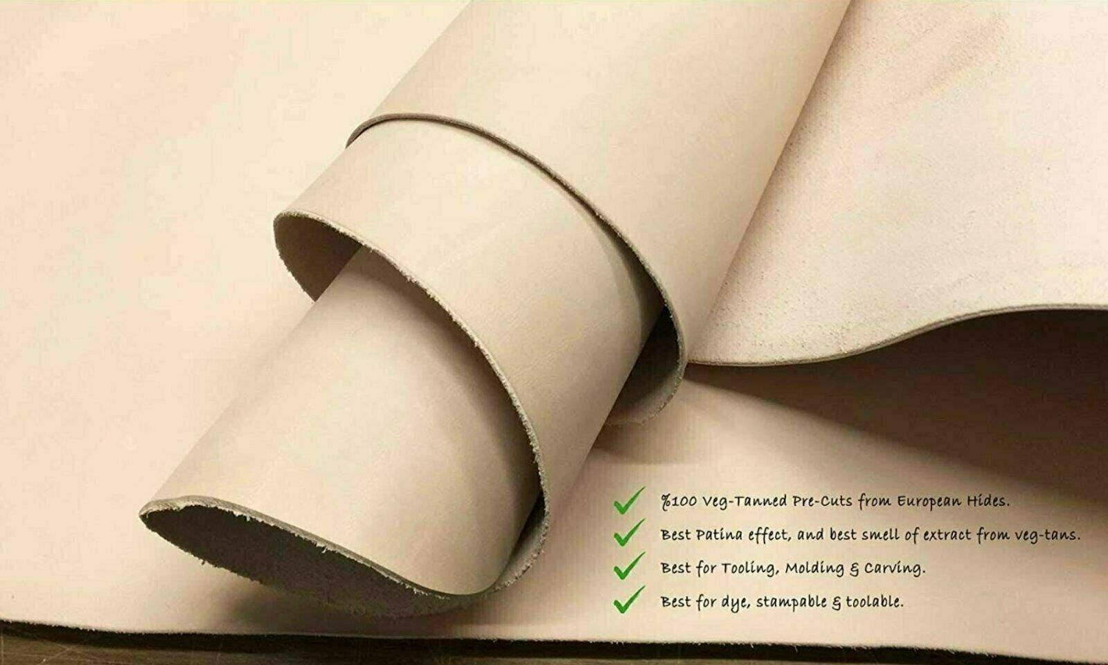 Natural Full Grain Leather Veg Tan Shoulder 8//9 oz. 16-18 sq.ft. 3.2-3.6mm