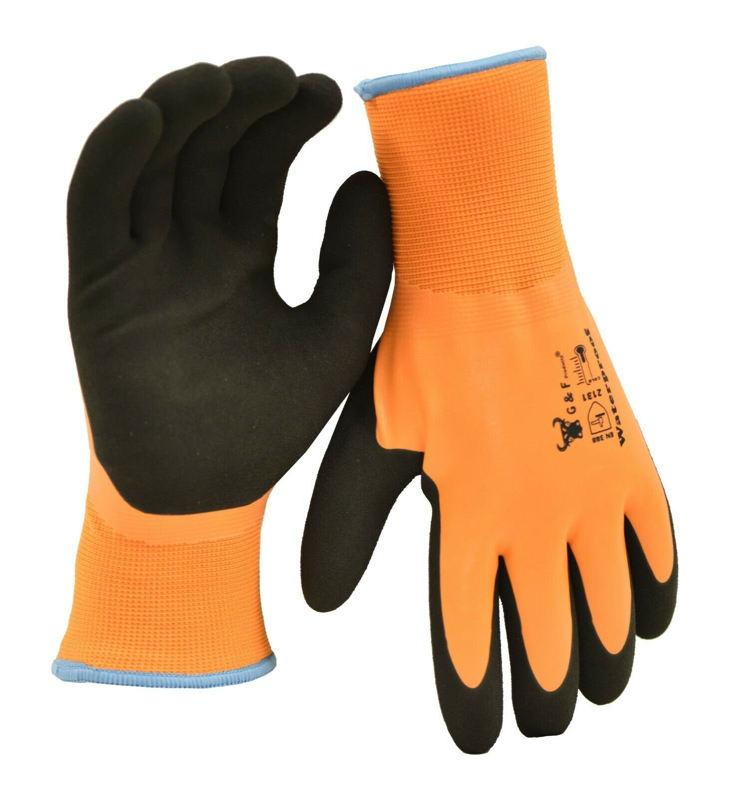 Thermal Waterproof Winter Work Gloves Latex Double Coated Insulated Nylon Gloves