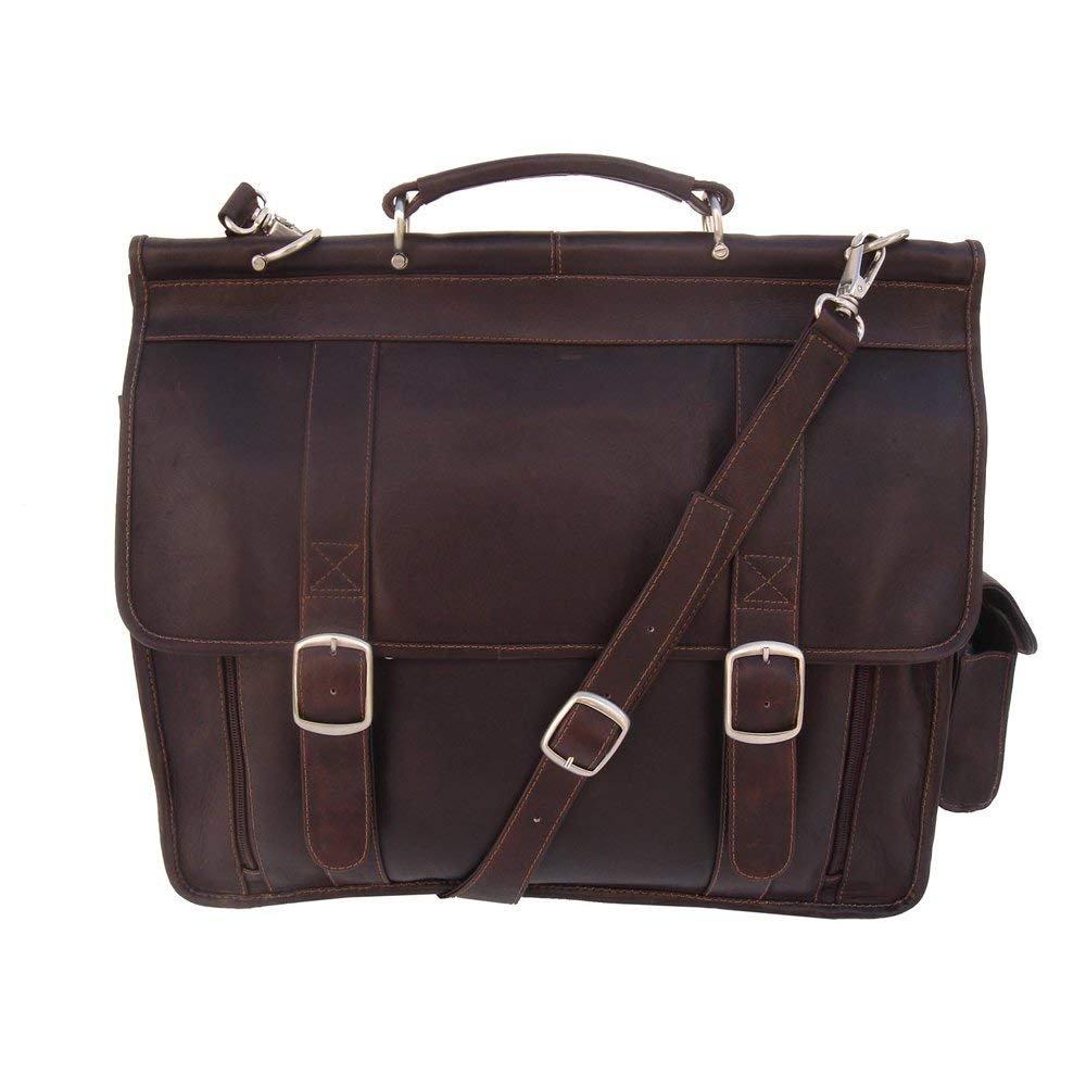 3b87d4b94e Piel Leather European Laptop Briefcase Chocolate