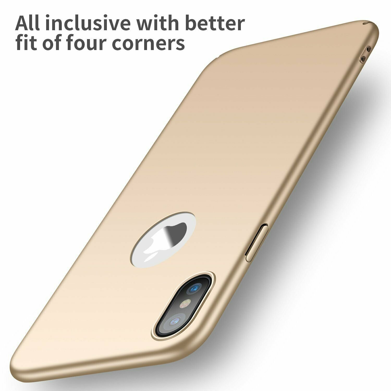 Case-Thin-Hard-Cover-Tempered-Glass-Screen-Protector-For-iPhone-X-XR-XS-Max thumbnail 16