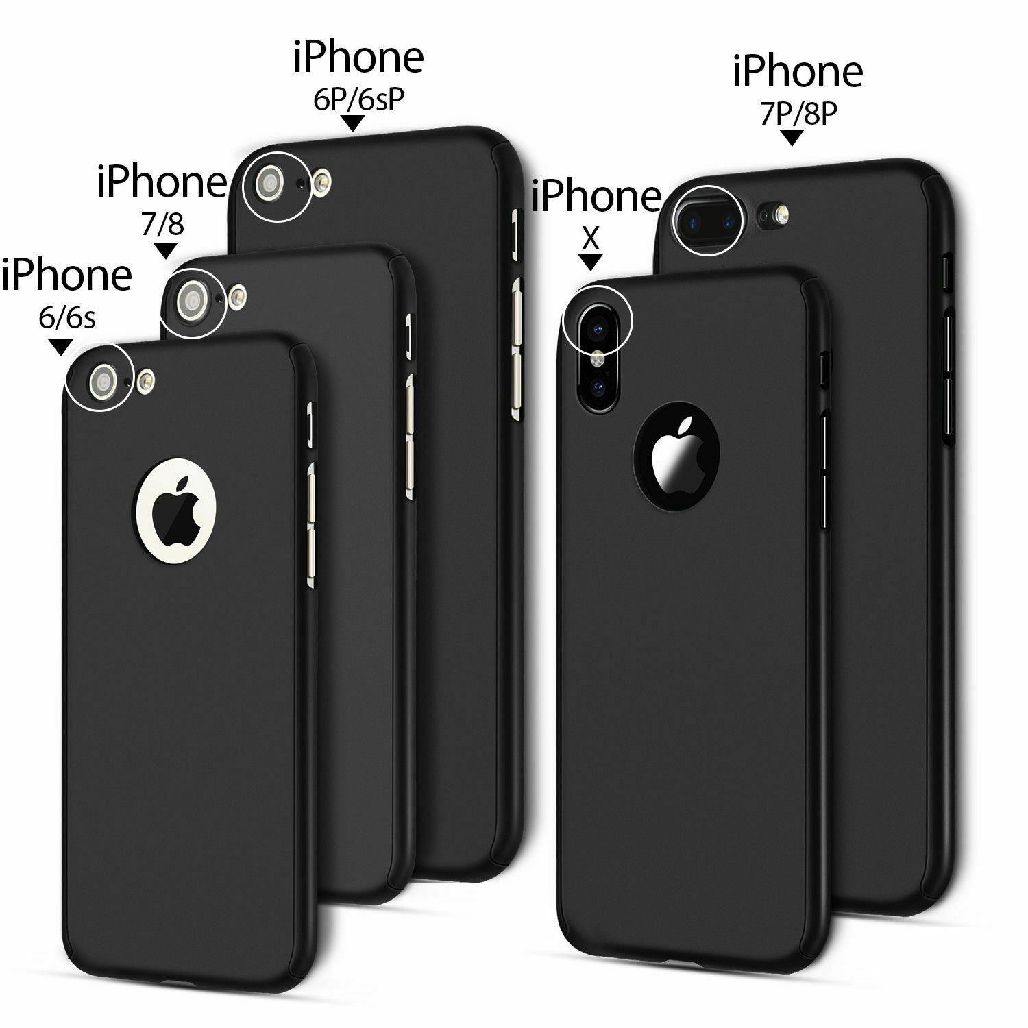 For-iPhone-8-7-6-Plus-X-Xs-Max-XR-Ultra-Thin-Slim-Hard-Case-Cover-Tempered-Glass thumbnail 12
