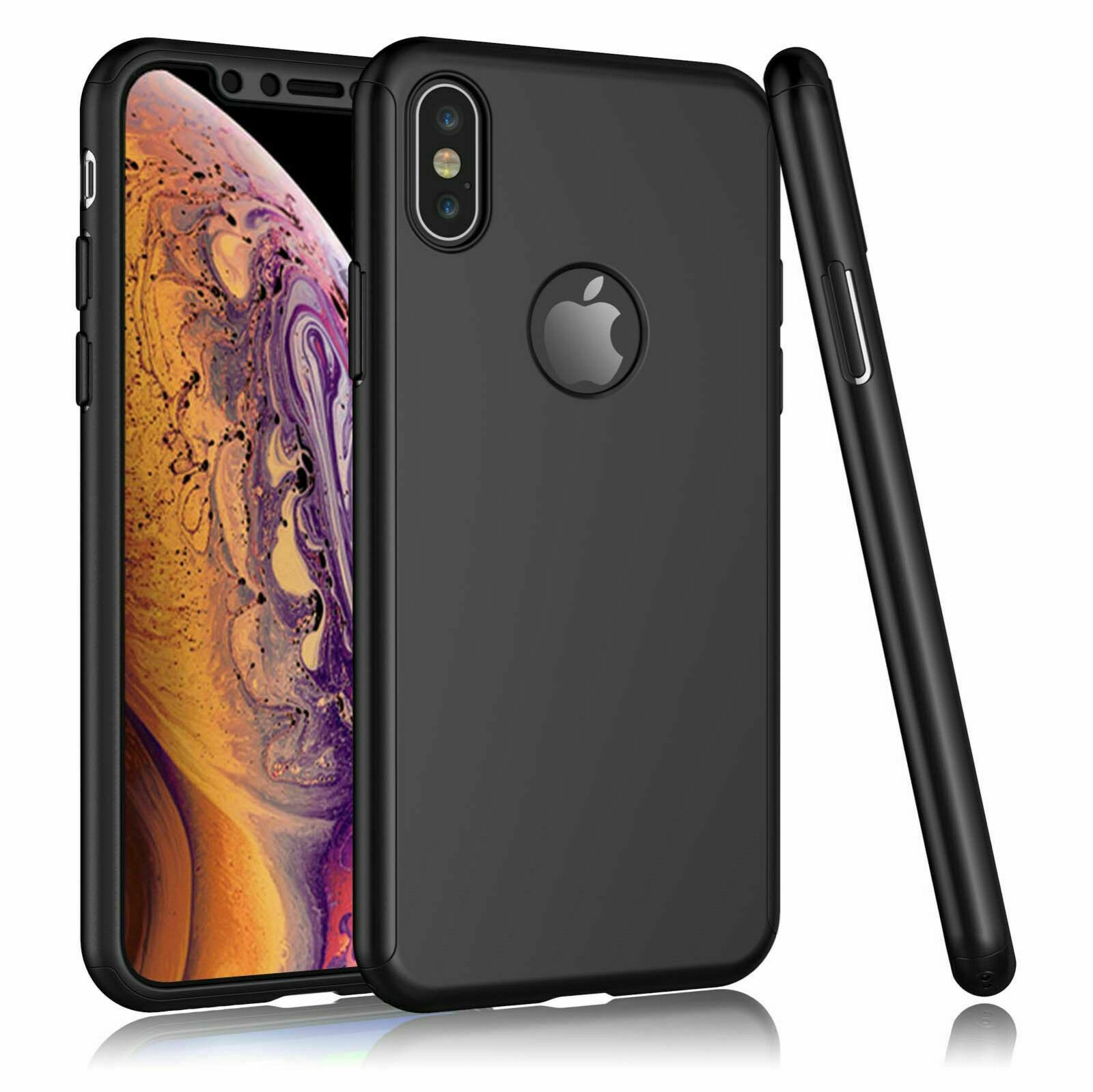 For-iPhone-8-7-6-Plus-X-Xs-Max-XR-Ultra-Thin-Slim-Hard-Case-Cover-Tempered-Glass thumbnail 13