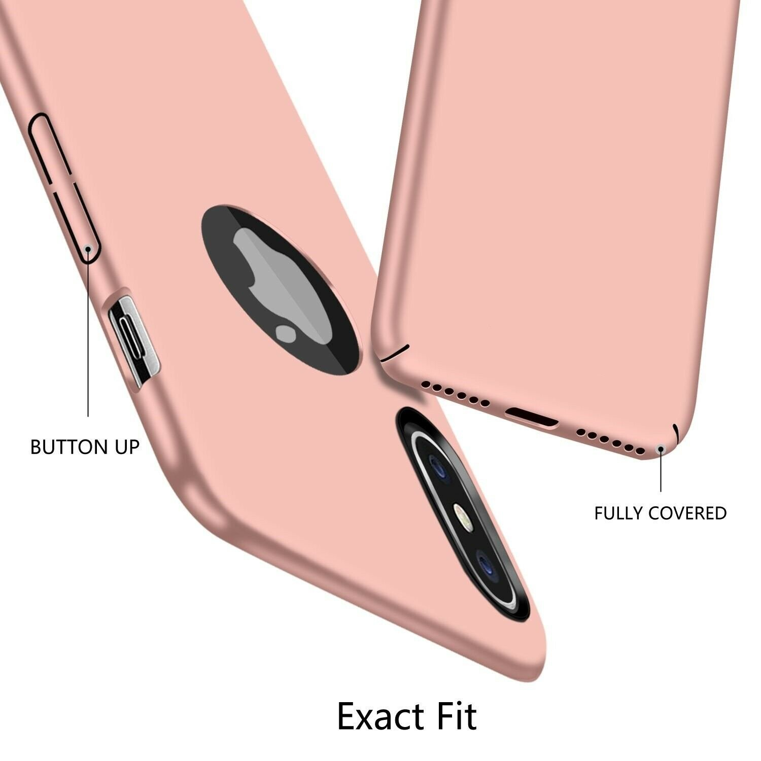 Case-Thin-Hard-Cover-Tempered-Glass-Screen-Protector-For-iPhone-X-XR-XS-Max thumbnail 35