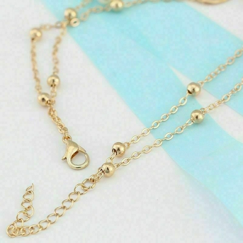 thumbnail 18 - Women Double Ankle Bracelet 925 Silver Anklet Foot Jewelry Girl's Beach Chain US