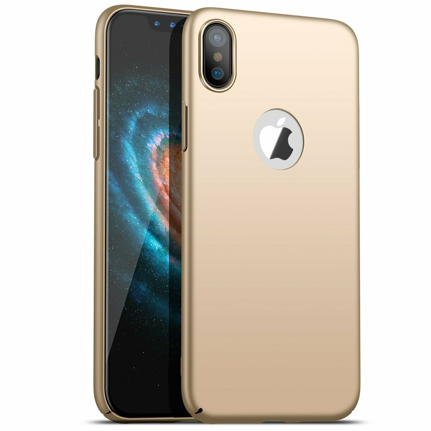 Case-Thin-Hard-Cover-Tempered-Glass-Screen-Protector-For-iPhone-X-XR-XS-Max thumbnail 18
