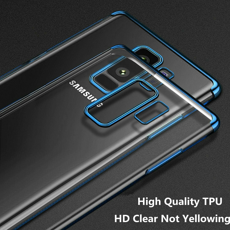 Indexbild 15 - Für Samsung Galaxy Note 8 9 10 s8 s9 s10 s20 Plus Thin Clear Soft Case Cover