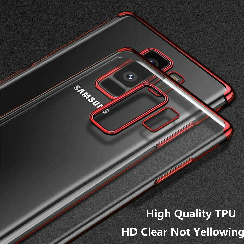 Indexbild 23 - Für Samsung Galaxy Note 8 9 10 s8 s9 s10 s20 Plus Thin Clear Soft Case Cover