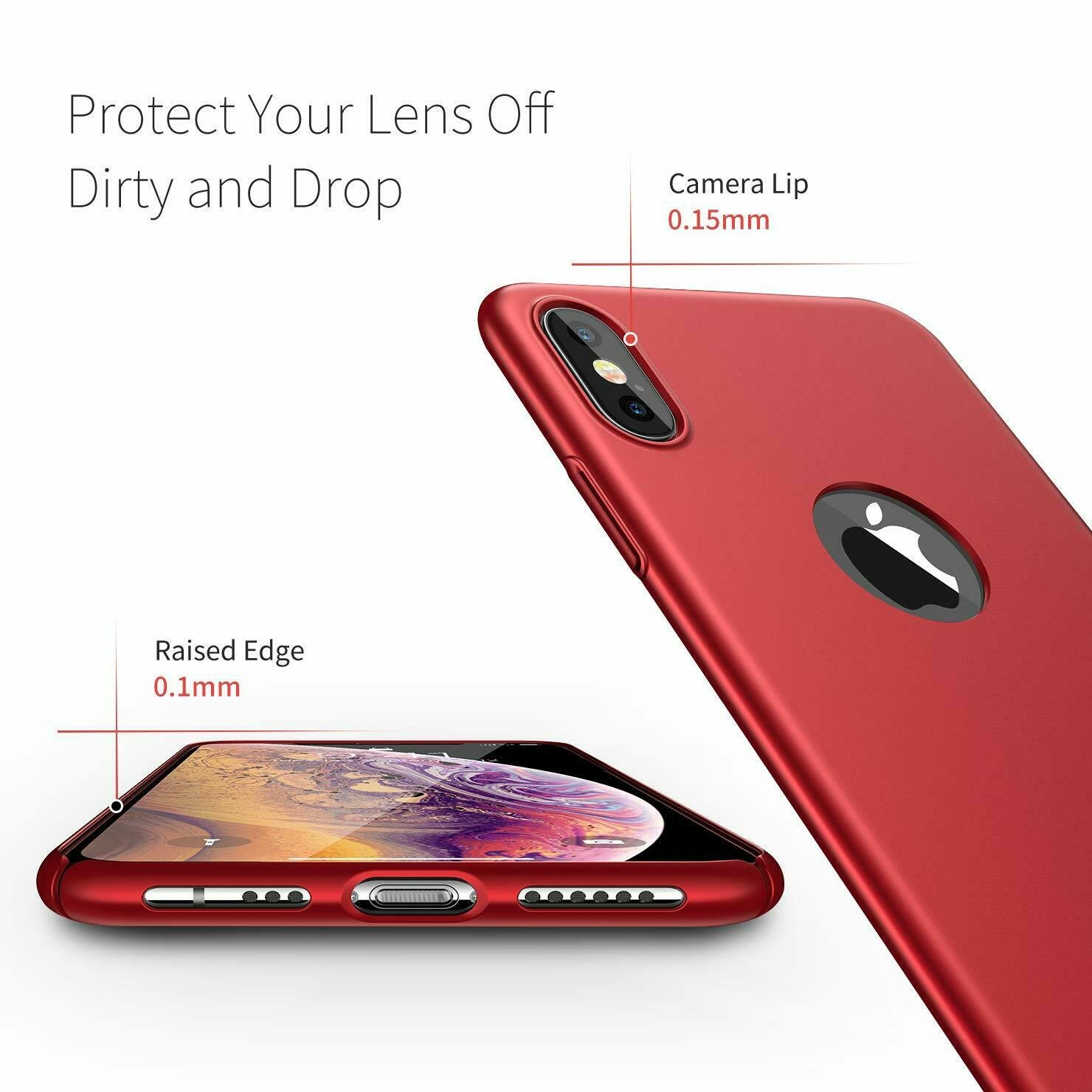 Case-Thin-Hard-Cover-Tempered-Glass-Screen-Protector-For-iPhone-X-XR-XS-Max thumbnail 22