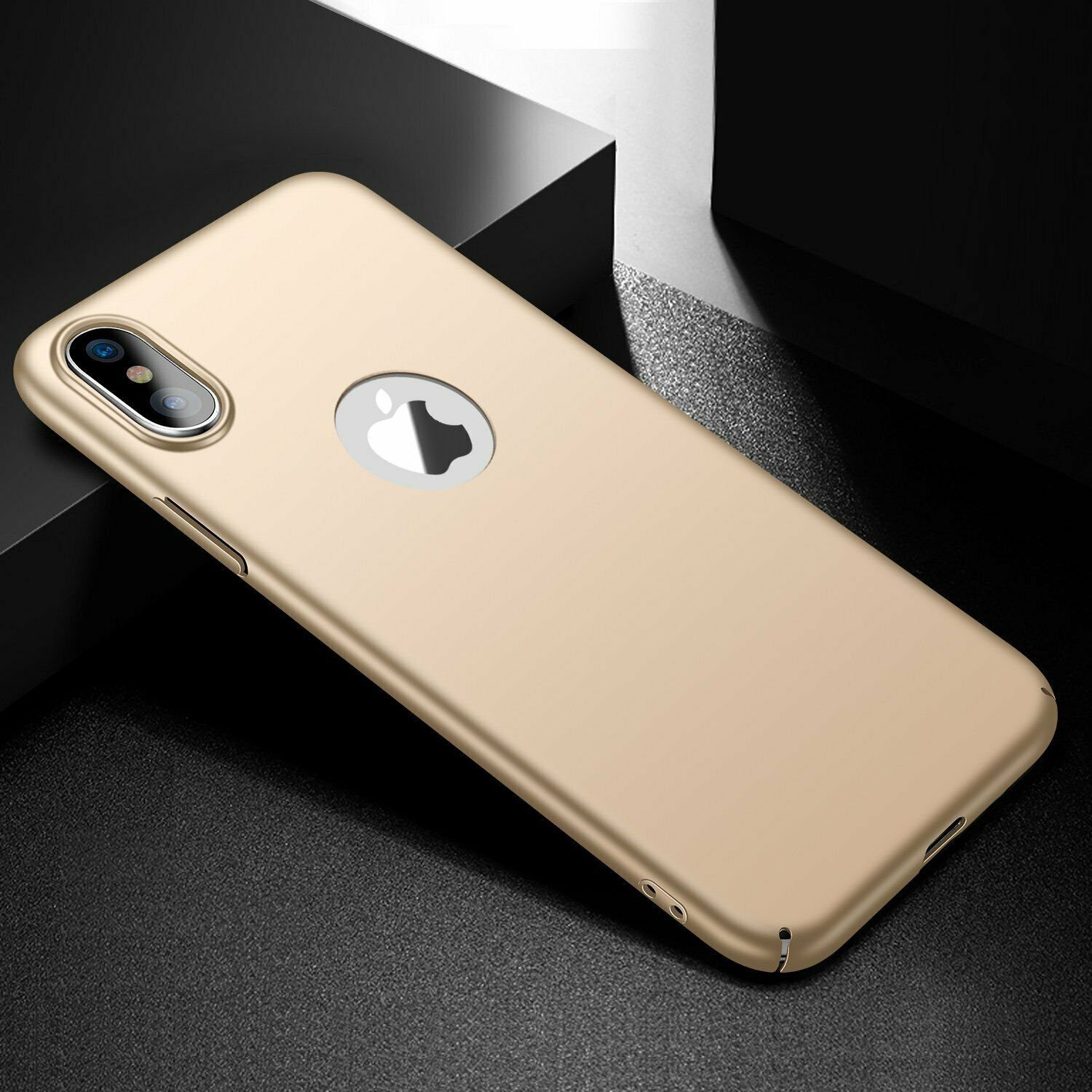 Case-Thin-Hard-Cover-Tempered-Glass-Screen-Protector-For-iPhone-X-XR-XS-Max thumbnail 20
