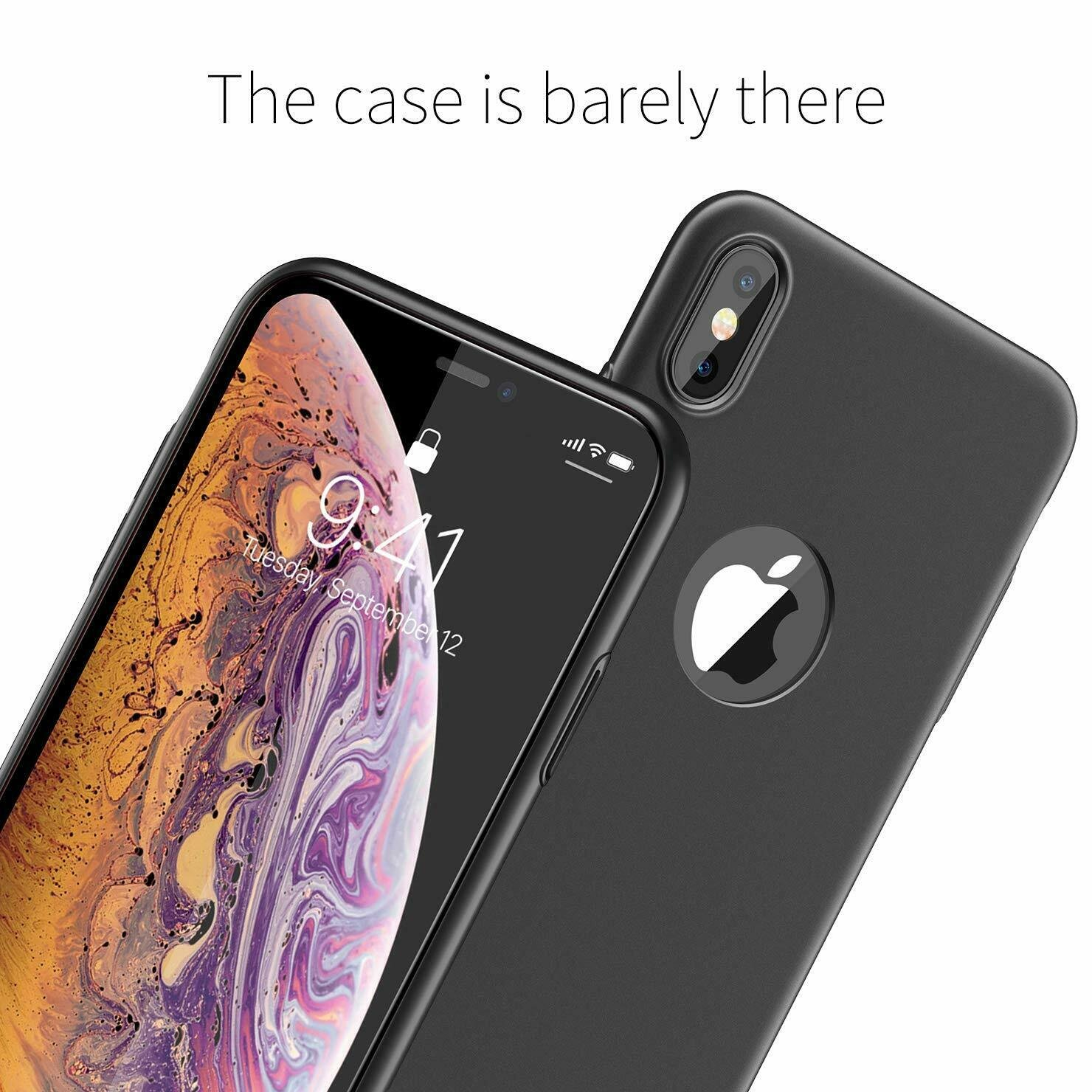 Case-Thin-Hard-Cover-Tempered-Glass-Screen-Protector-For-iPhone-X-XR-XS-Max thumbnail 12