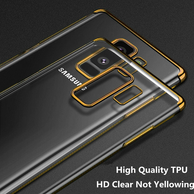 Indexbild 19 - Für Samsung Galaxy Note 8 9 10 s8 s9 s10 s20 Plus Thin Clear Soft Case Cover