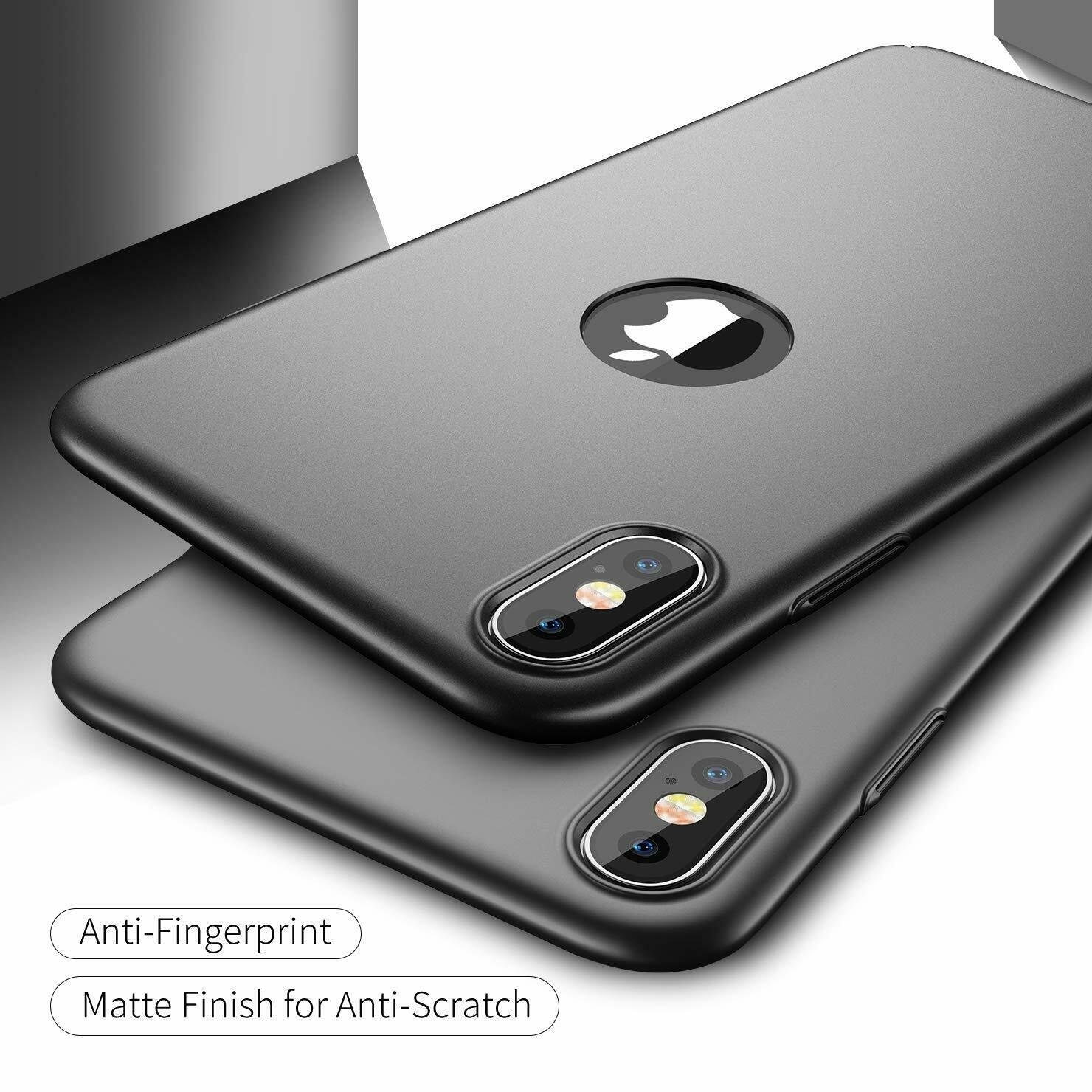 Case-Thin-Hard-Cover-Tempered-Glass-Screen-Protector-For-iPhone-X-XR-XS-Max thumbnail 11