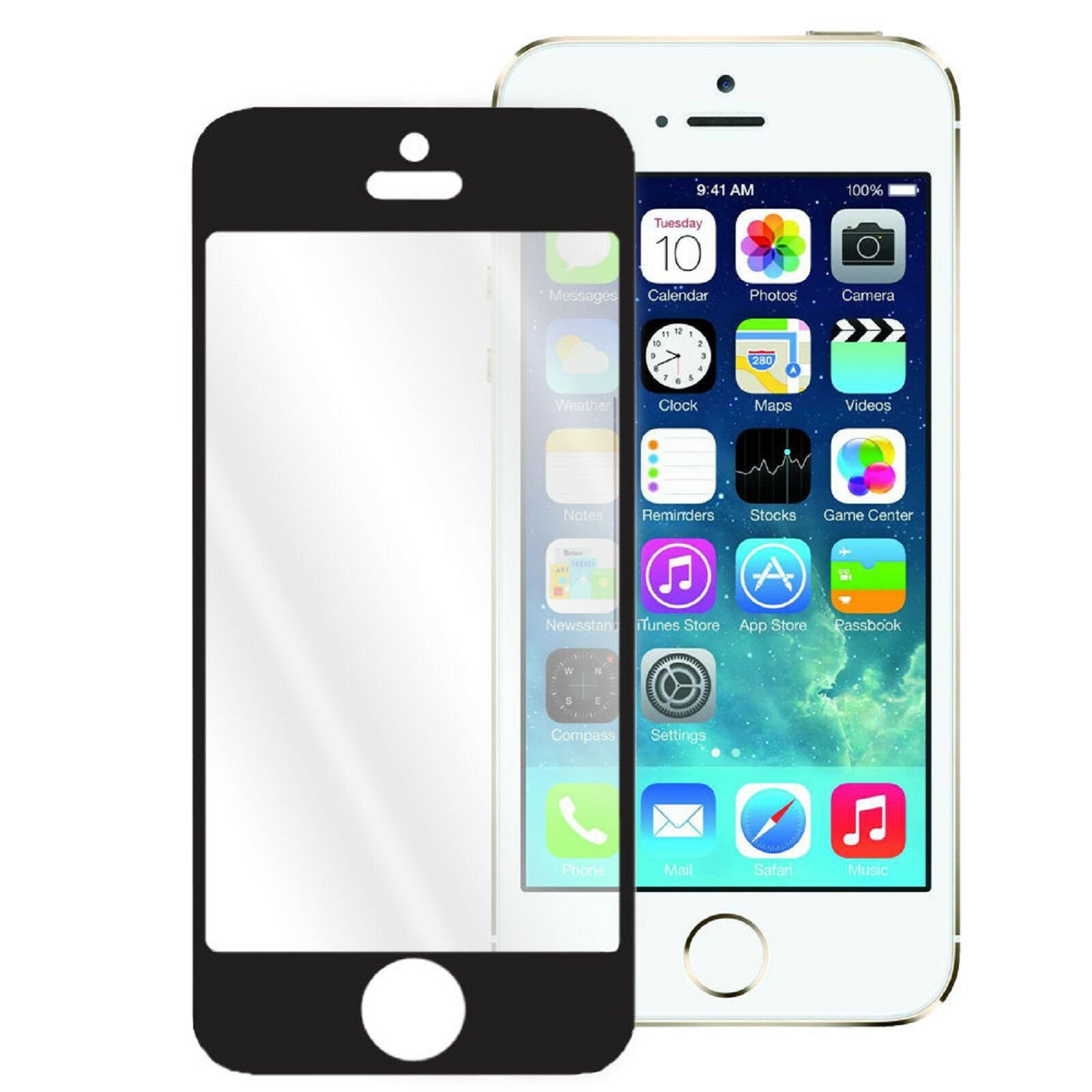 thumbnail 4 - Colorful Real Tempered Glass Film Screen Protector for iPhone 5 5S 5C