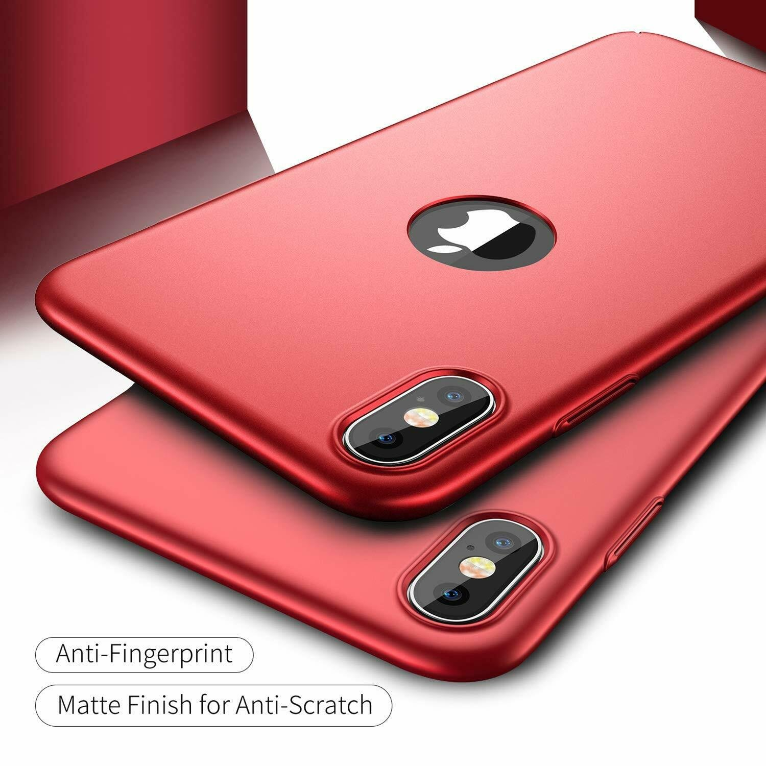 For-iPhone-X-XR-XS-Max-Matte-Case-Shockproof-Ultra-Thin-Slim-Hard-Cover thumbnail 25