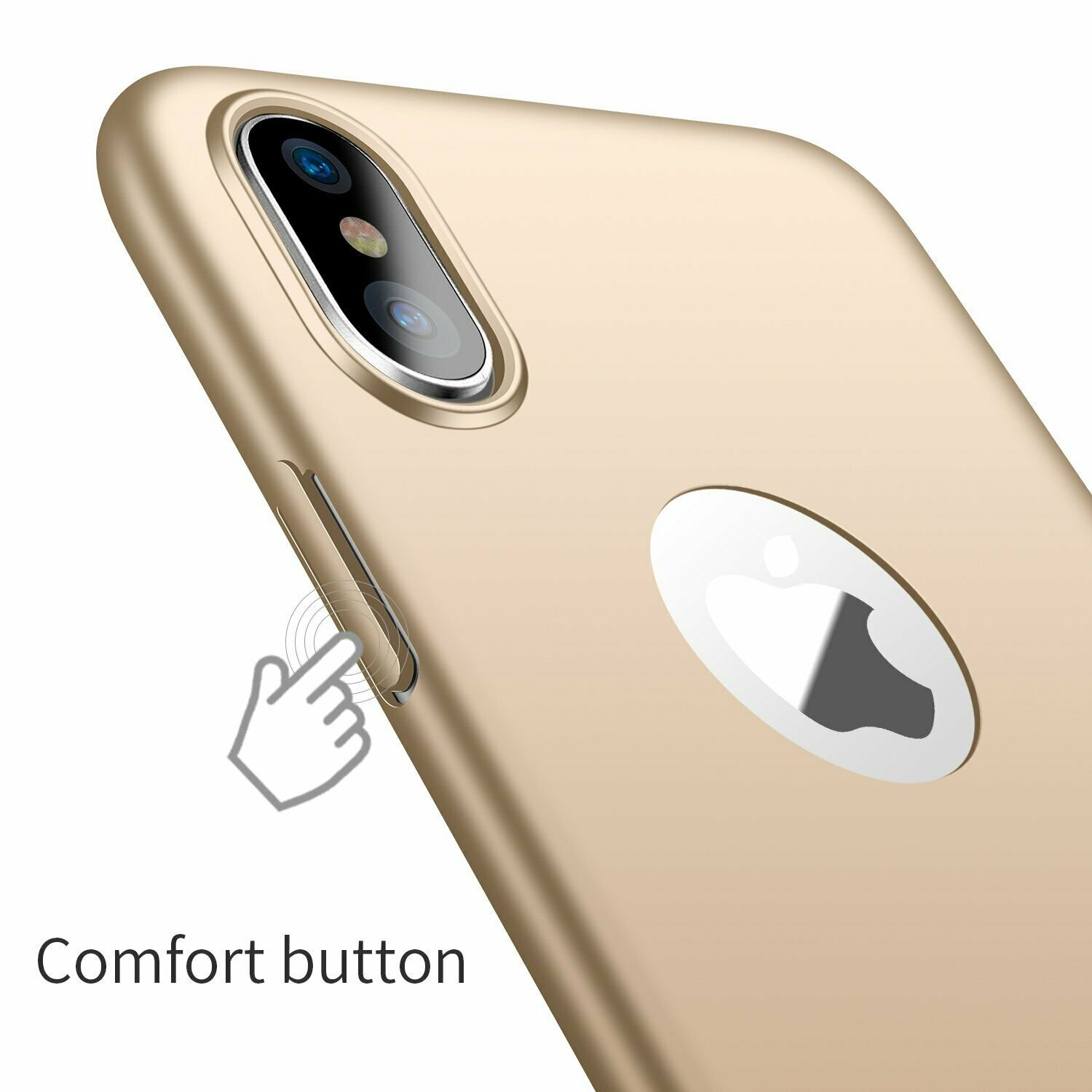 Case-Thin-Hard-Cover-Tempered-Glass-Screen-Protector-For-iPhone-X-XR-XS-Max thumbnail 15