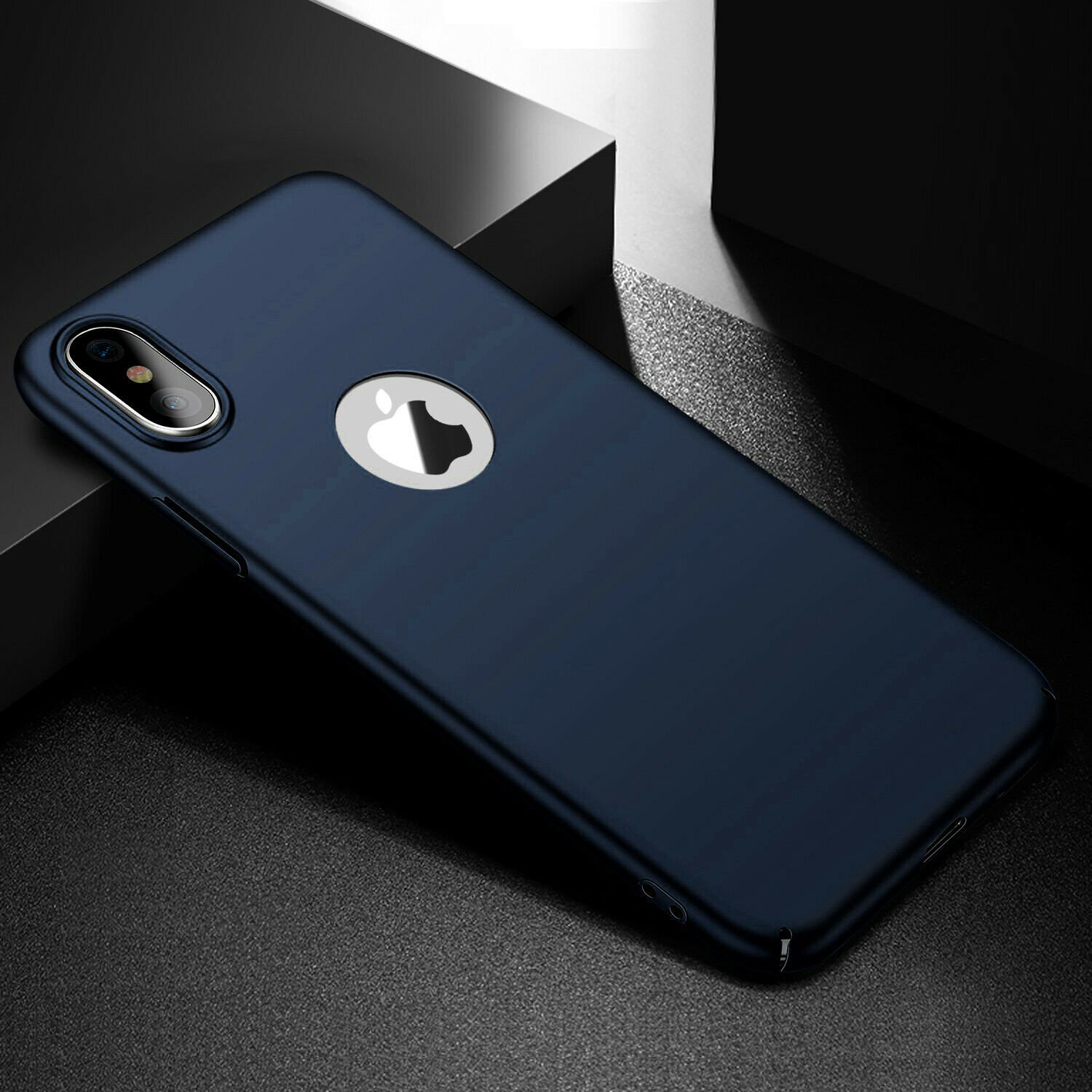 Case-Thin-Hard-Cover-Tempered-Glass-Screen-Protector-For-iPhone-X-XR-XS-Max thumbnail 29