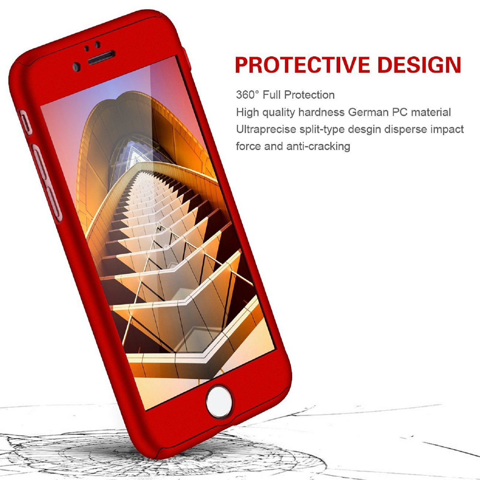 For-iPhone-8-7-6-Plus-X-Xs-Max-XR-Ultra-Thin-Slim-Hard-Case-Cover-Tempered-Glass thumbnail 18