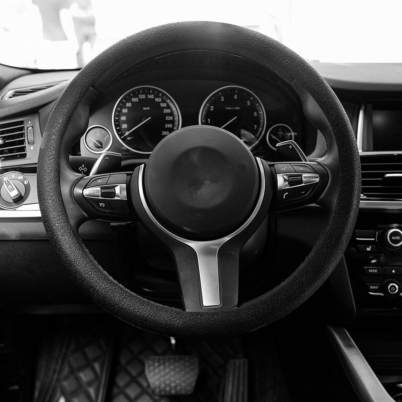 13″-15″ Soft Silicone Car Steering Wheel Cover Anti-static Non-slip Black USA Car & Truck Parts