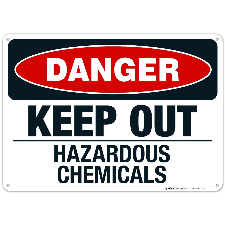 Danger Keep Out Hazardous Chemicals Sign, OSHA Danger Sign ...