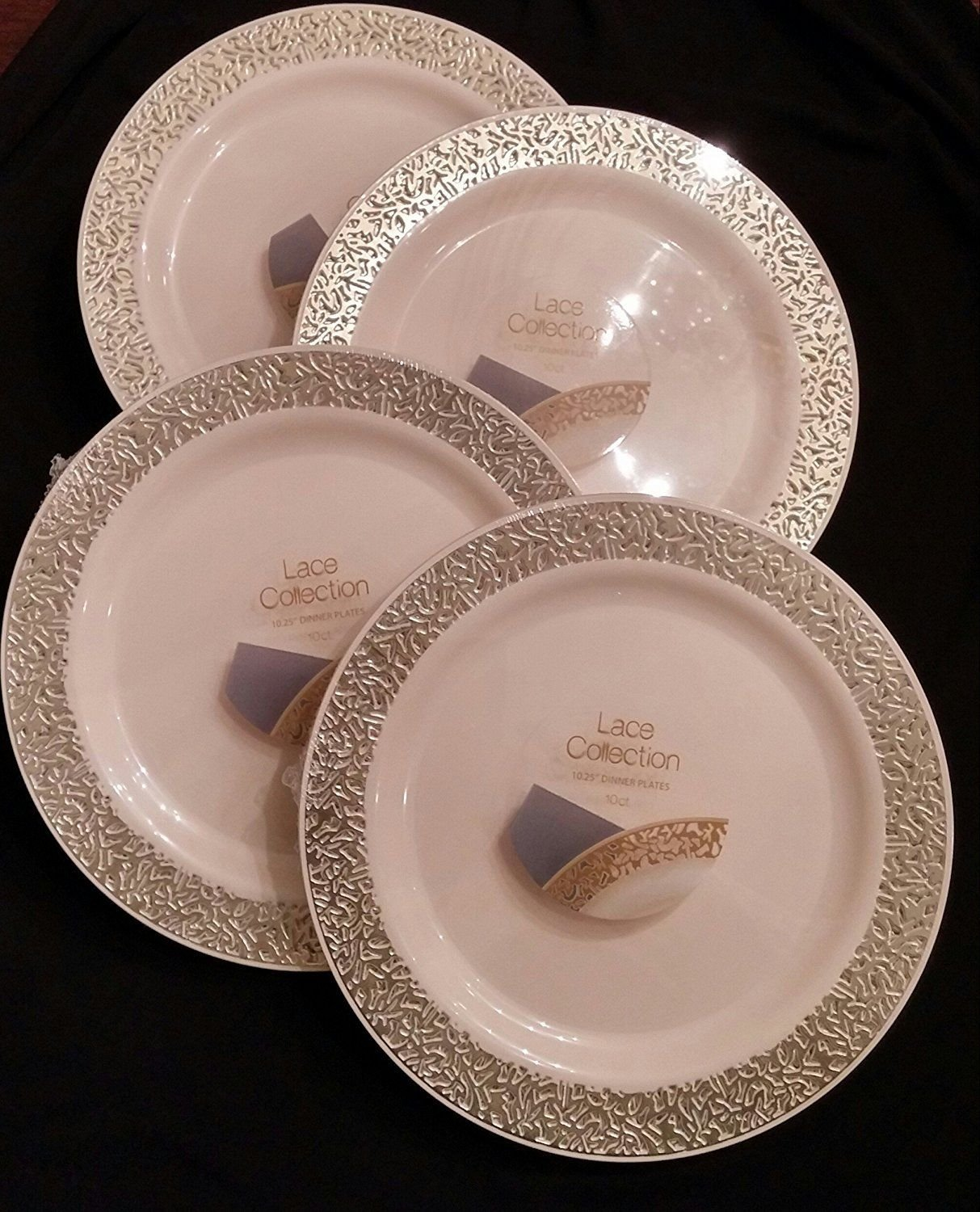 Image is loading Party-Bargains-Lace-Collection-Disposable-Plates-&-Soup- & Party Bargains Lace Collection Disposable Plates \u0026 Soup Bowls - Pack ...