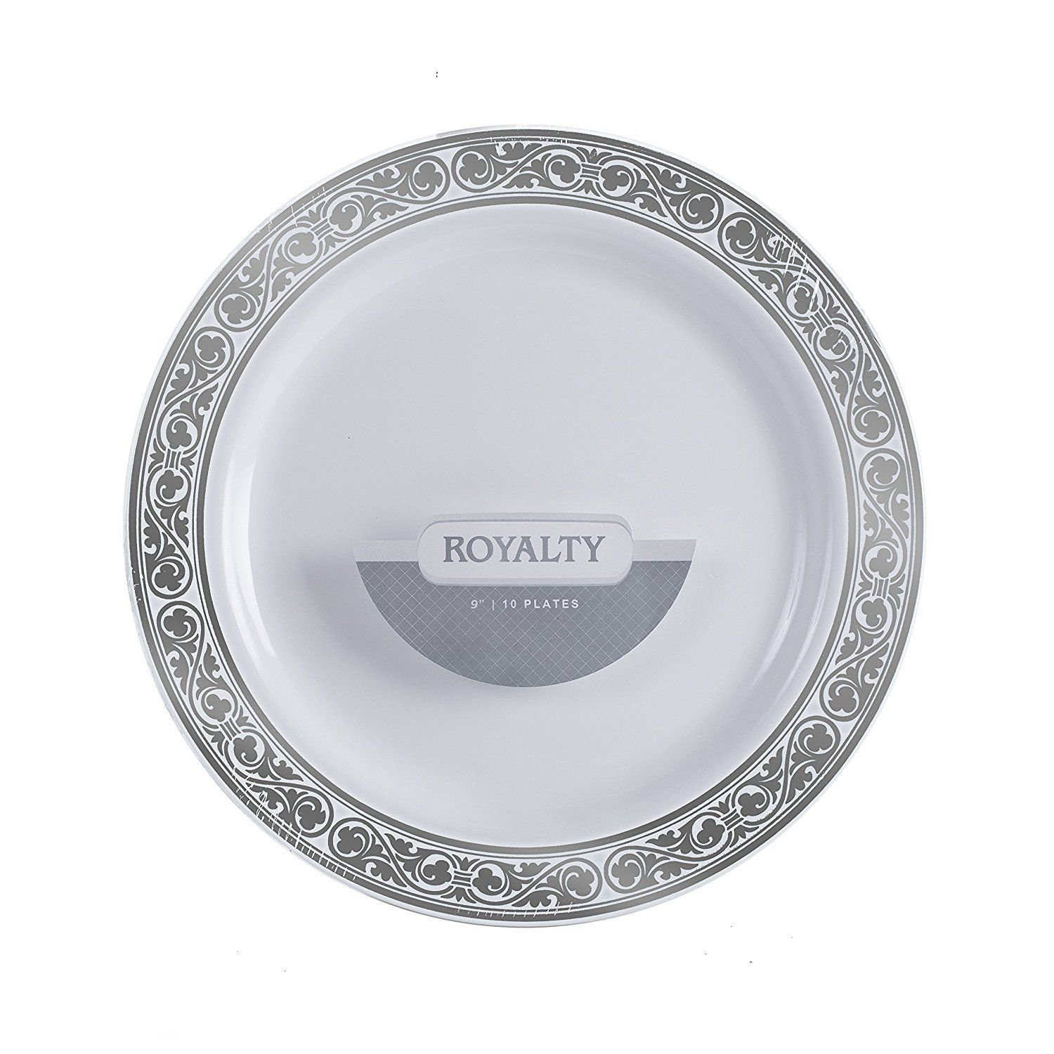 Party-Bargains-Royalty-Collection-Durable-Silver-Rim-Plastic-  sc 1 st  eBay & Party Bargains Royalty Collection Durable Silver Rim Plastic Plates ...
