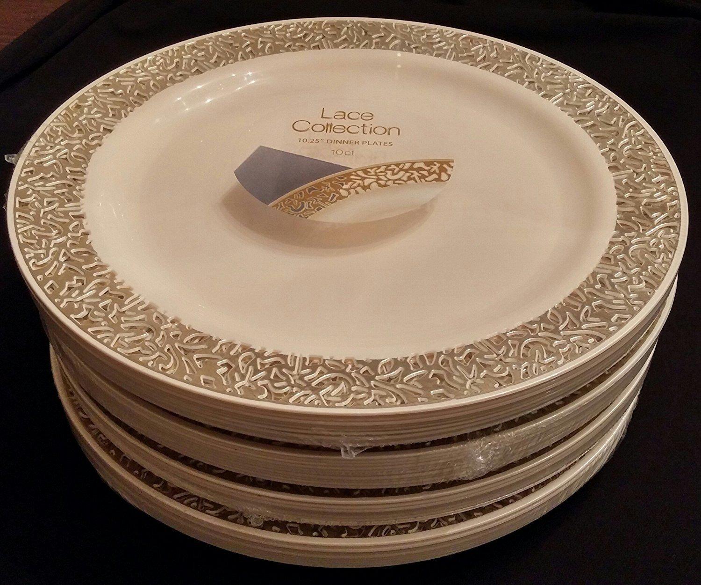 Party-Bargains-Lace-Collection-Disposable-Plates-&-Soup- & Party Bargains Lace Collection Disposable Plates \u0026 Soup Bowls - Pack ...
