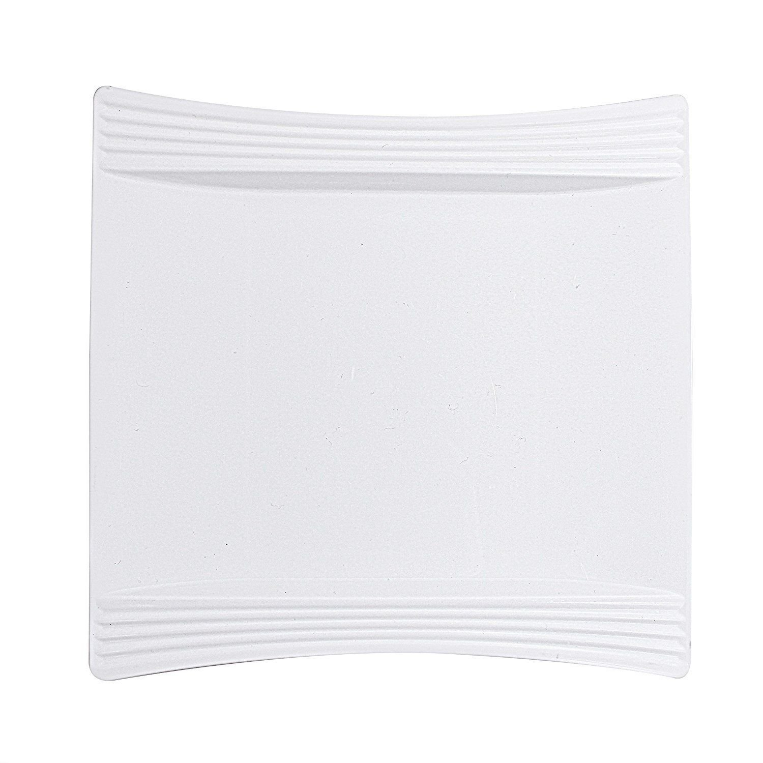 Party-Bargains-Hotel-Ware-Square-Plates-Collection-Sturdy-  sc 1 st  eBay & Party Bargains Hotel Ware Square Plates Collection Sturdy Plastic ...