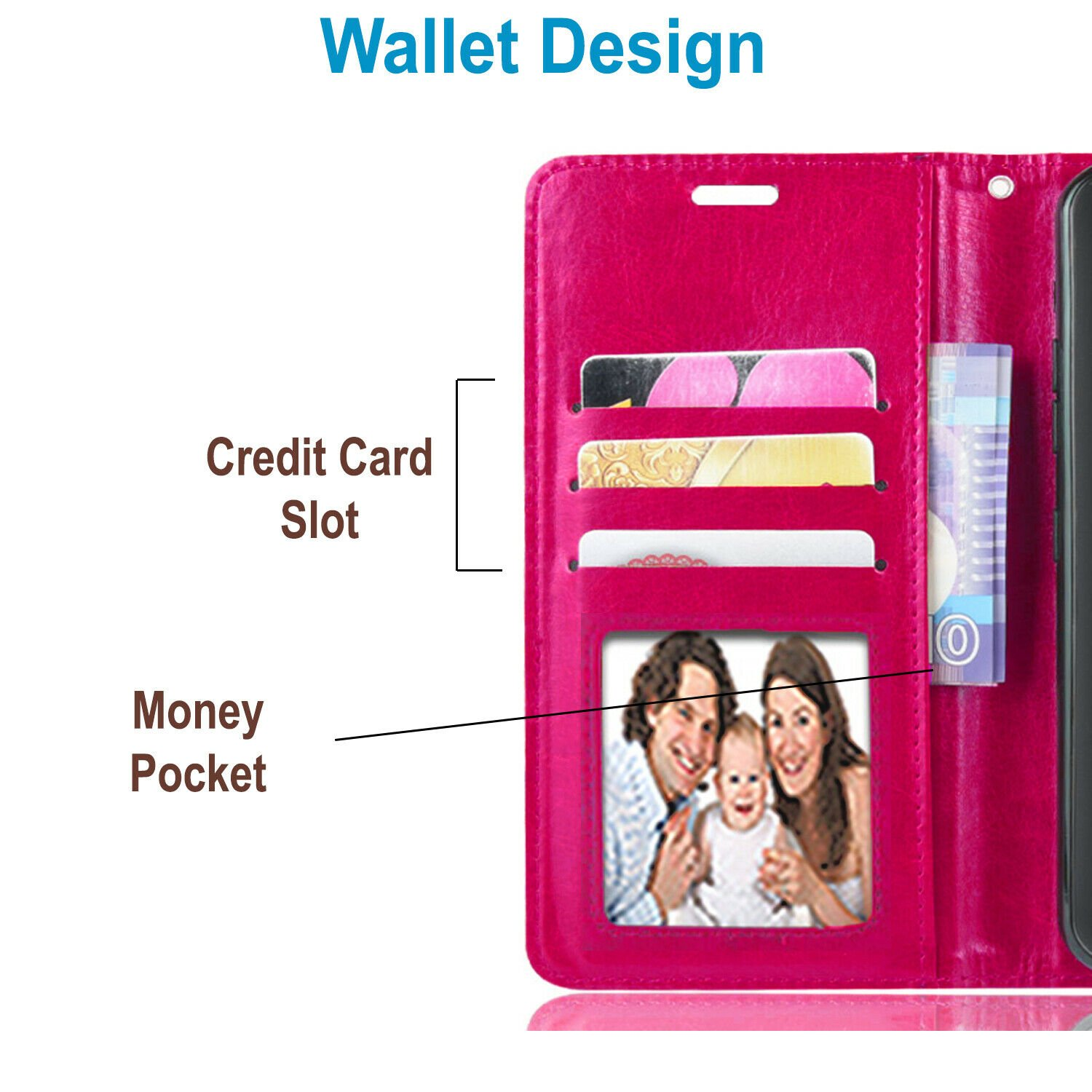 thumbnail 24 - For iPhone 7 / 8 / 7 Plus Case, Premium Wallet Cover + Tempered Glass Protector