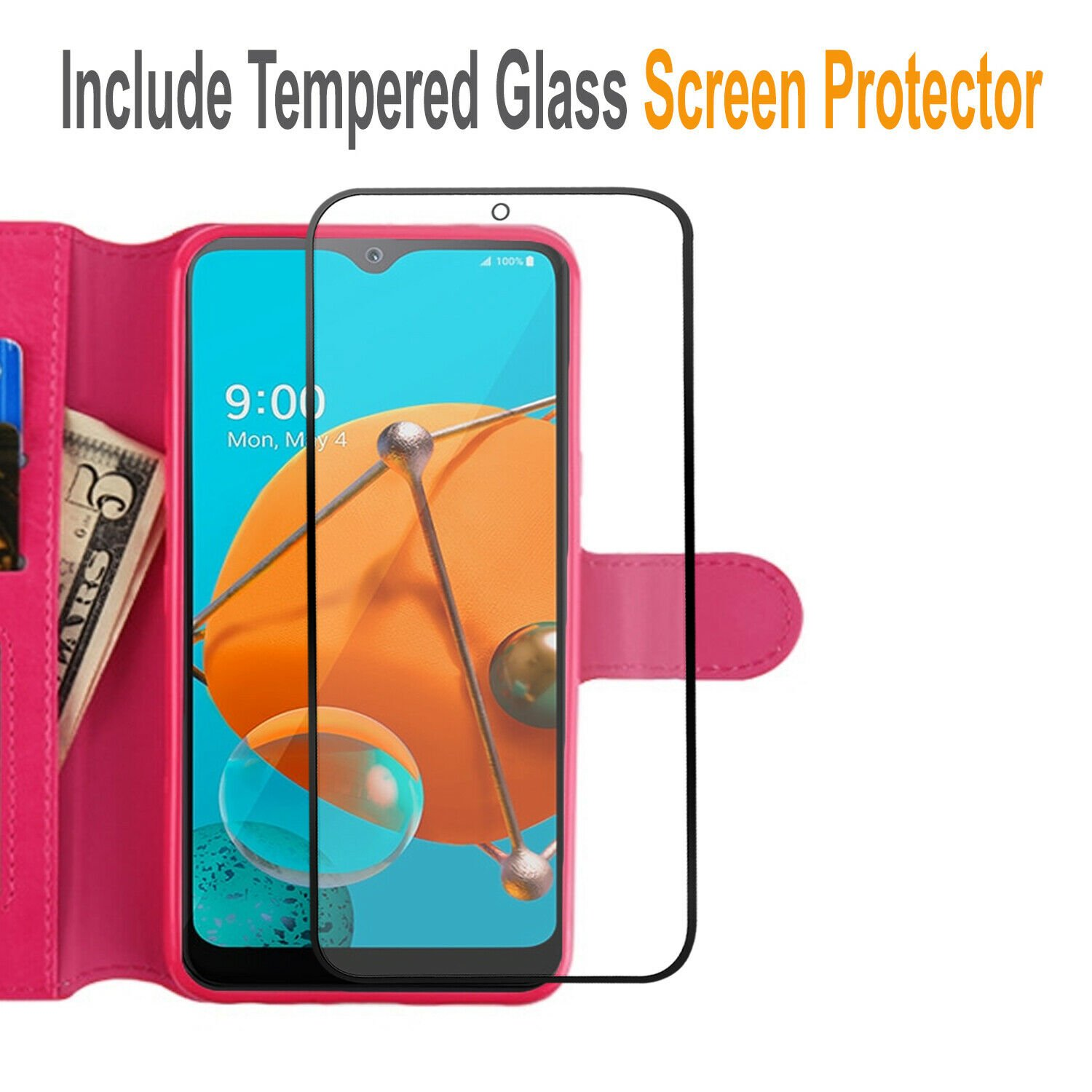 thumbnail 25 - For iPhone 7 / 8 / 7 Plus Case, Premium Wallet Cover + Tempered Glass Protector
