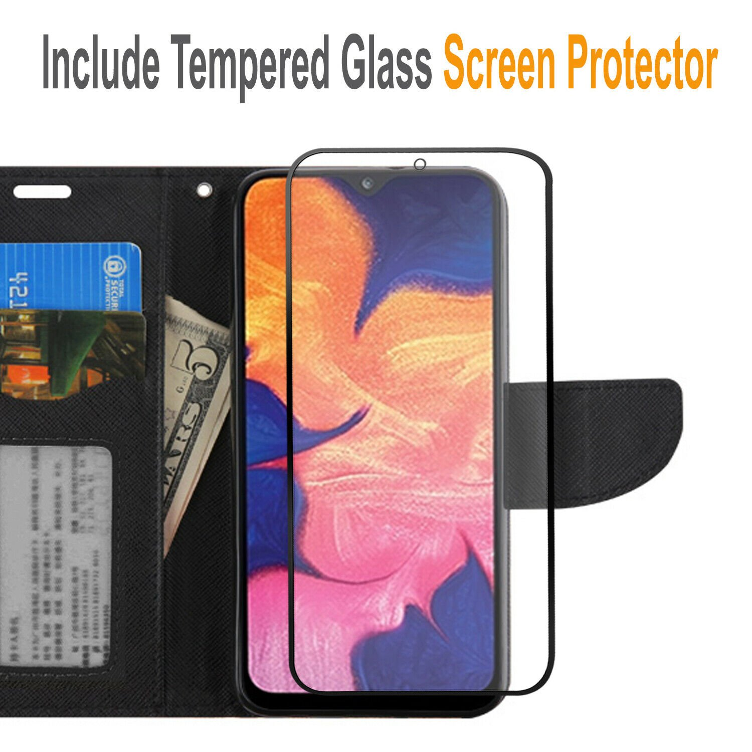 thumbnail 11 - For iPhone 7 / 8 / 7 Plus Case, Premium Wallet Cover + Tempered Glass Protector