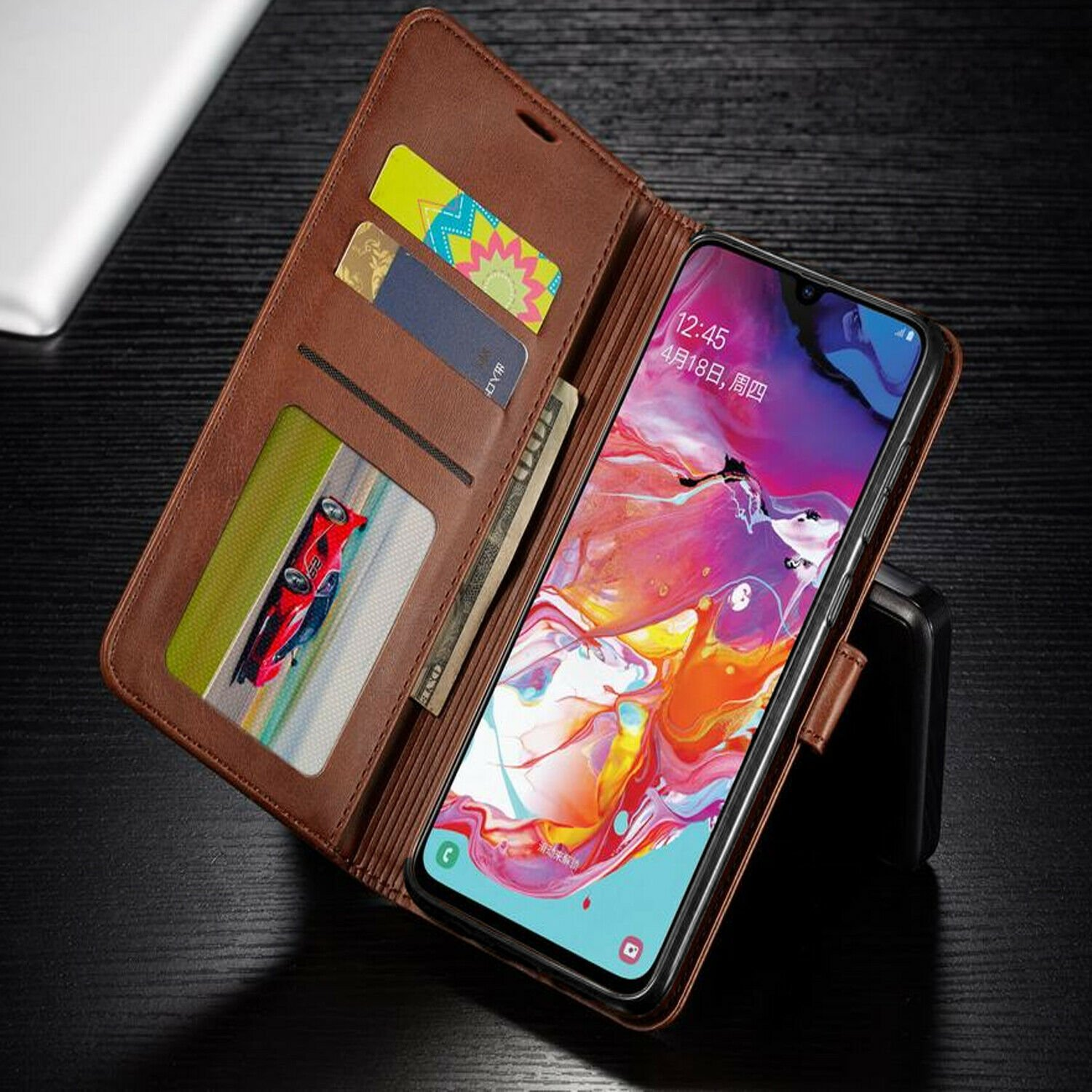 thumbnail 16 - For iPhone 7 / 8 / 7 Plus Case, Premium Wallet Cover + Tempered Glass Protector