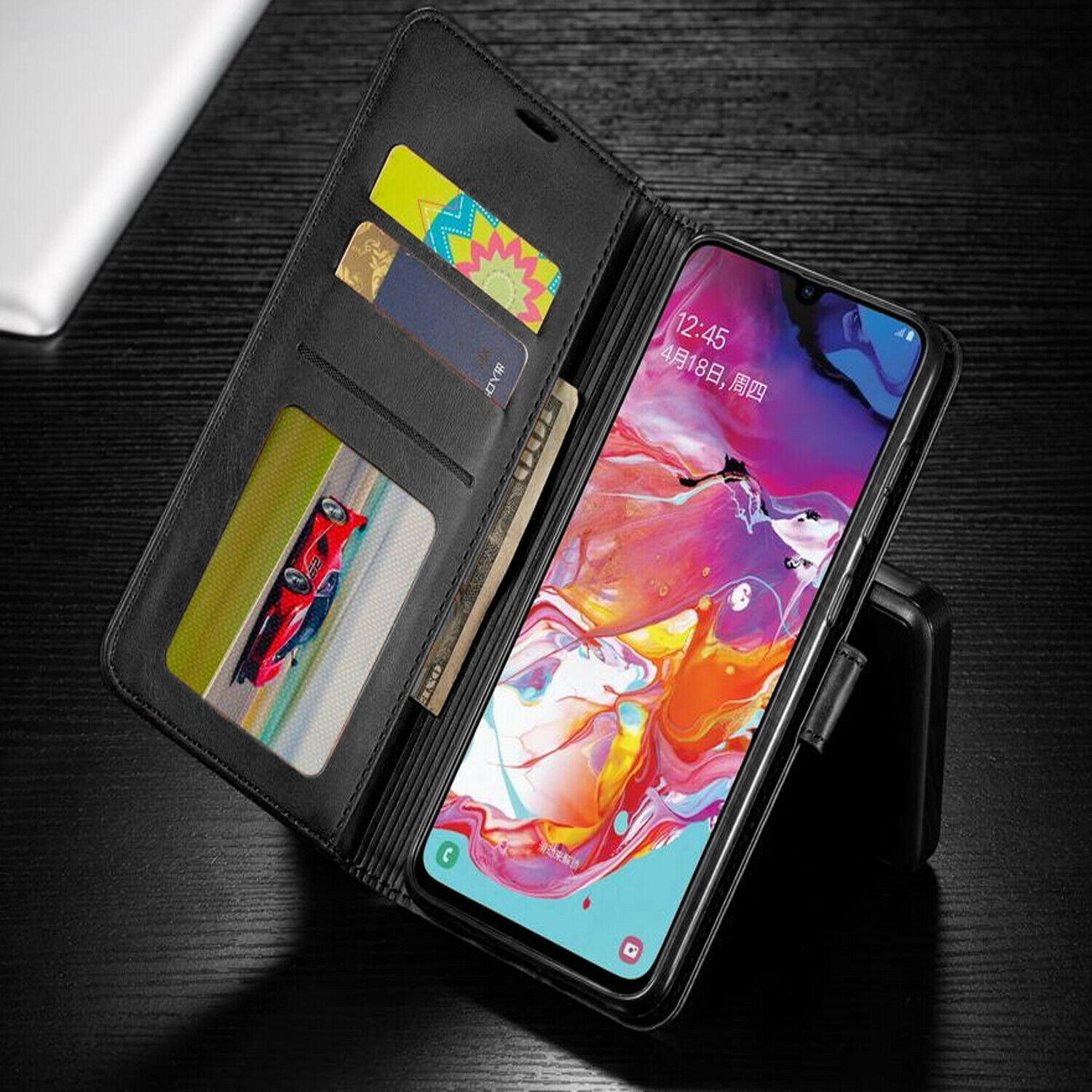 thumbnail 9 - For iPhone 7 / 8 / 7 Plus Case, Premium Wallet Cover + Tempered Glass Protector