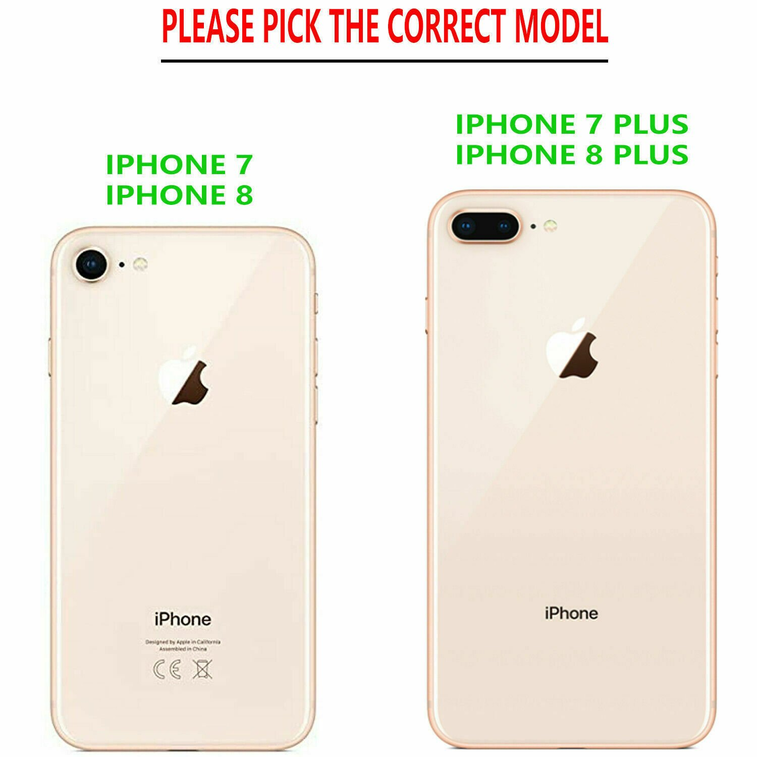 thumbnail 7 - For iPhone 7 / 8 / 7 Plus Case, Premium Wallet Cover + Tempered Glass Protector