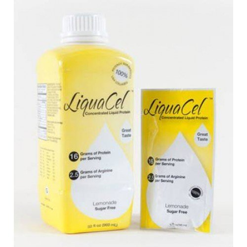 LiquaCel Lemonade Flavor Flavor Lemonade Protein Supplement, 32oz Bottles (Case of 6) 8f5583