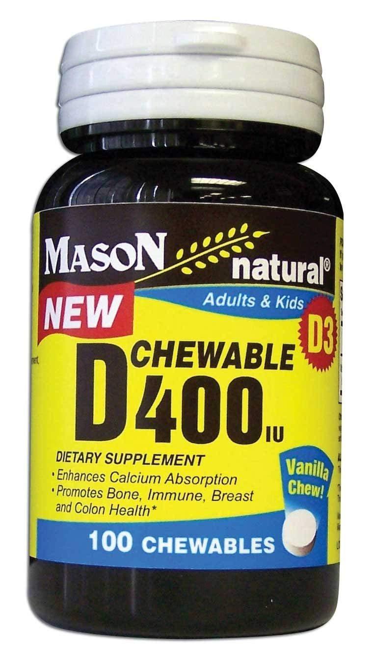 Vitamin D Tablets 400 Iu Chewable Mason - 100