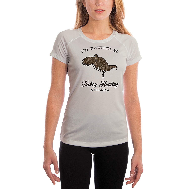 Mossy-Oak-New-Bottomland-Turkey-Flying-Women-039-s-Nebraska-UPF-50-T-Shirt