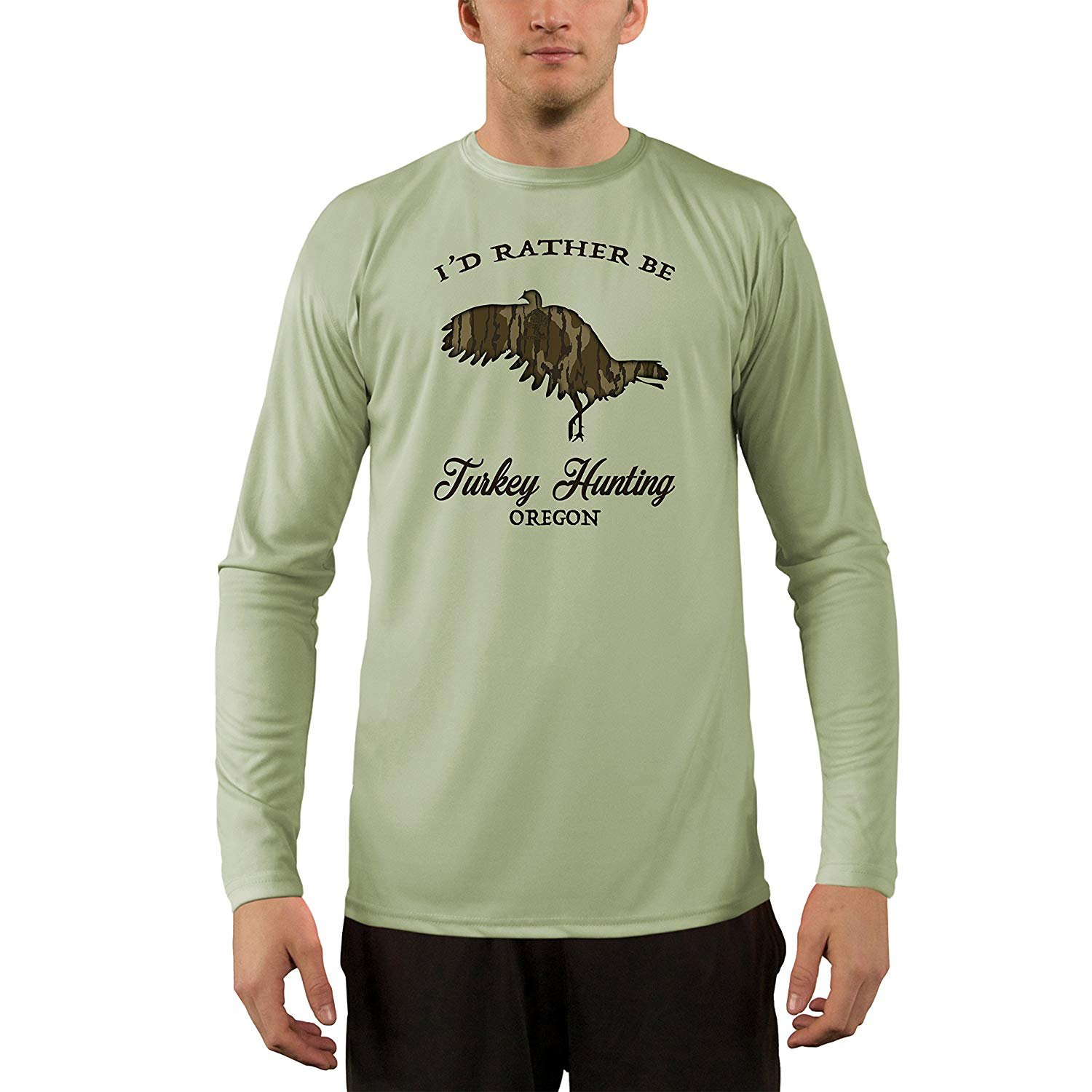 Mossy Oak Oak Oak Original Bottomland Turkey Flying Oregon Uomo's UPF 50+ T-Shirt 7cf8a6