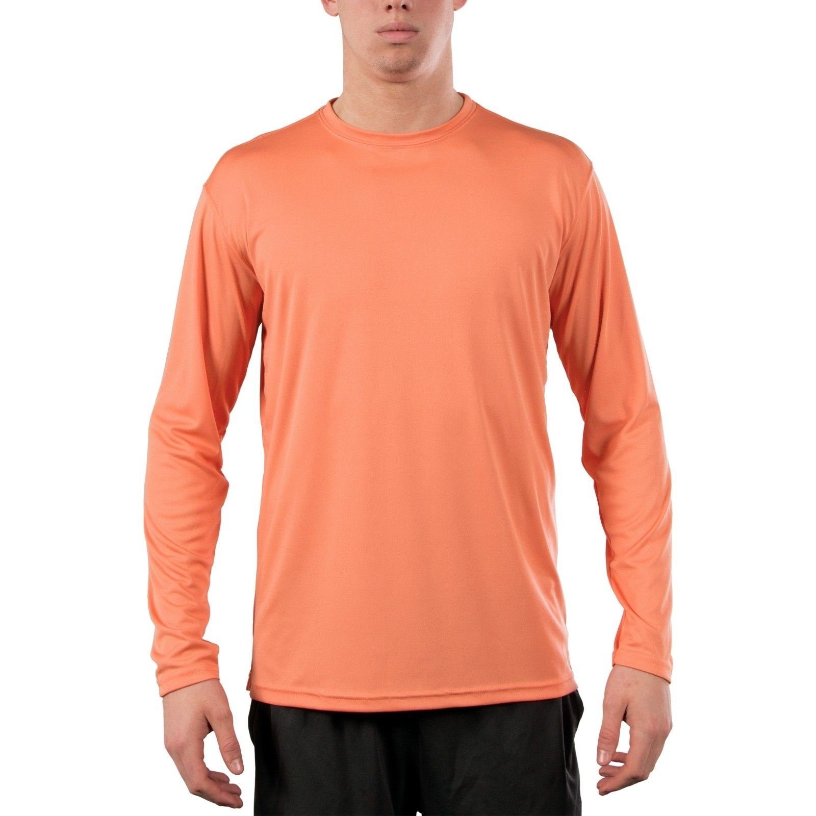 Vapor apparel men 39 s upf 50 uv sun protection long sleeve for Uv shirts long sleeve