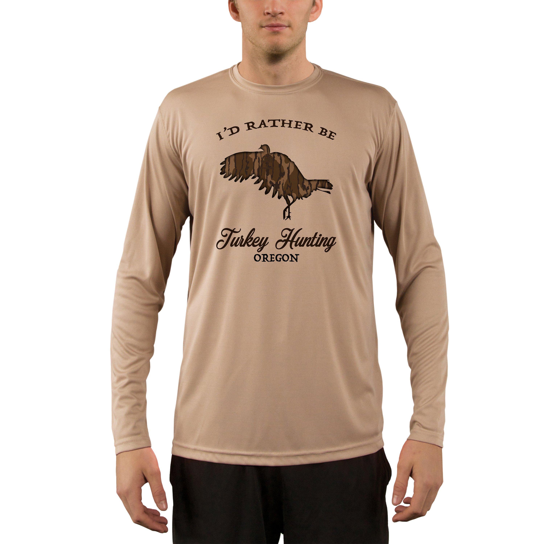 Mossy Oak Oak Oak Original Bottomland Turkey Flying Oregon Uomo's UPF 50+ T-Shirt 7cf8a6